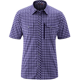 Maier Sports Peyo SS Shirt Men dark blue check